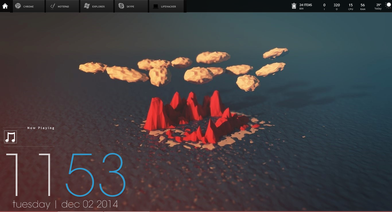 The Low-Poly Island Desktop