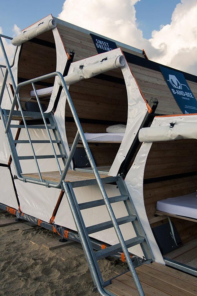 All music festivals should offer these king-size sleeping modules
