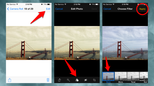 Remove Filters from Photos in iOS 7