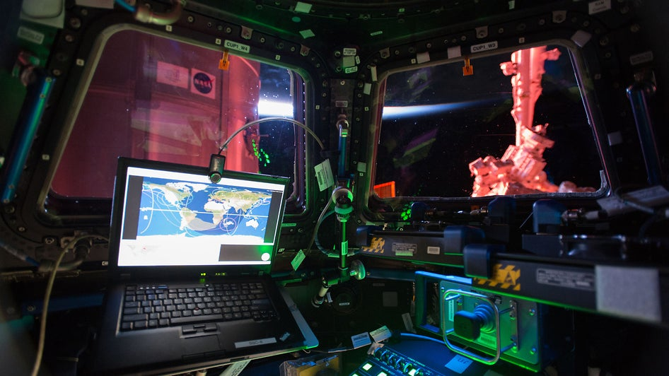 The ISS's Work Station Puts Your Home Office To Shame