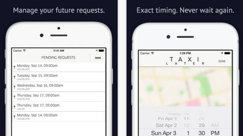 TaxiLater Lets You Schedule an Uber for Later