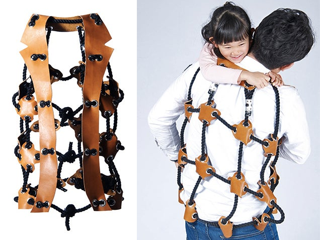 Parents Become Human Jungle Gyms While Wearing This Rope Vest
