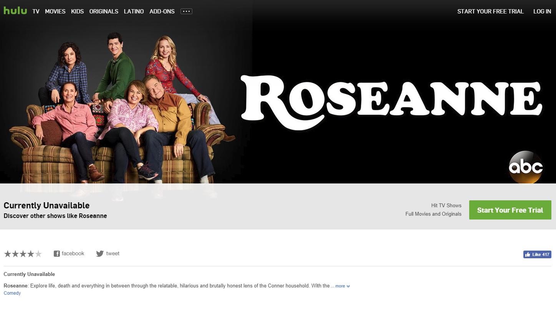 Hulu Scrambles To Pull All Reruns Of RoseanneAfter Star's Racist Tweet