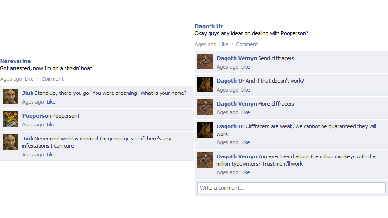 Morrowind, As Told By Facebook Posts