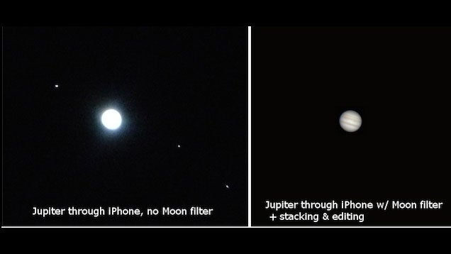 Take Photos of Space with Your Smartphone, Filters, and a Telescope