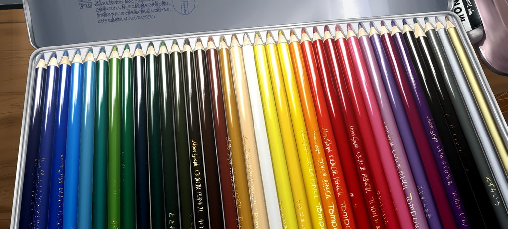 These colour pencils are actually a colour drawing