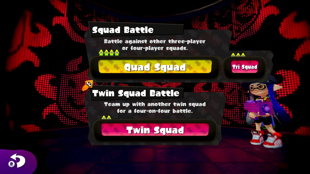 Massive August Splatoon Update Adds Private And Squad Squid Battles
