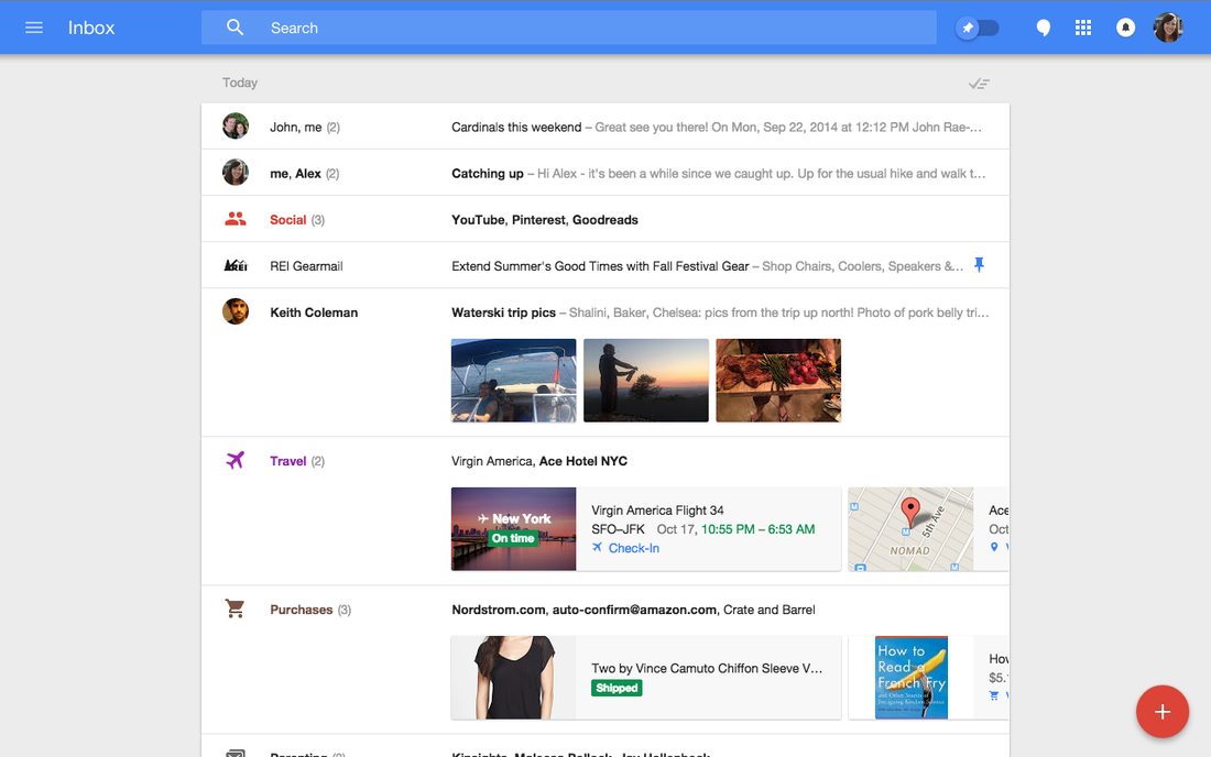 Google's Inbox App Wants To Read Your Email So You Don't Have To