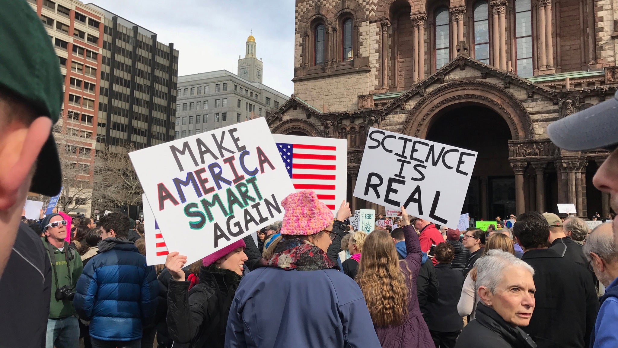 Scientists Protest, Plan To Fight Back Against Trump In Boston