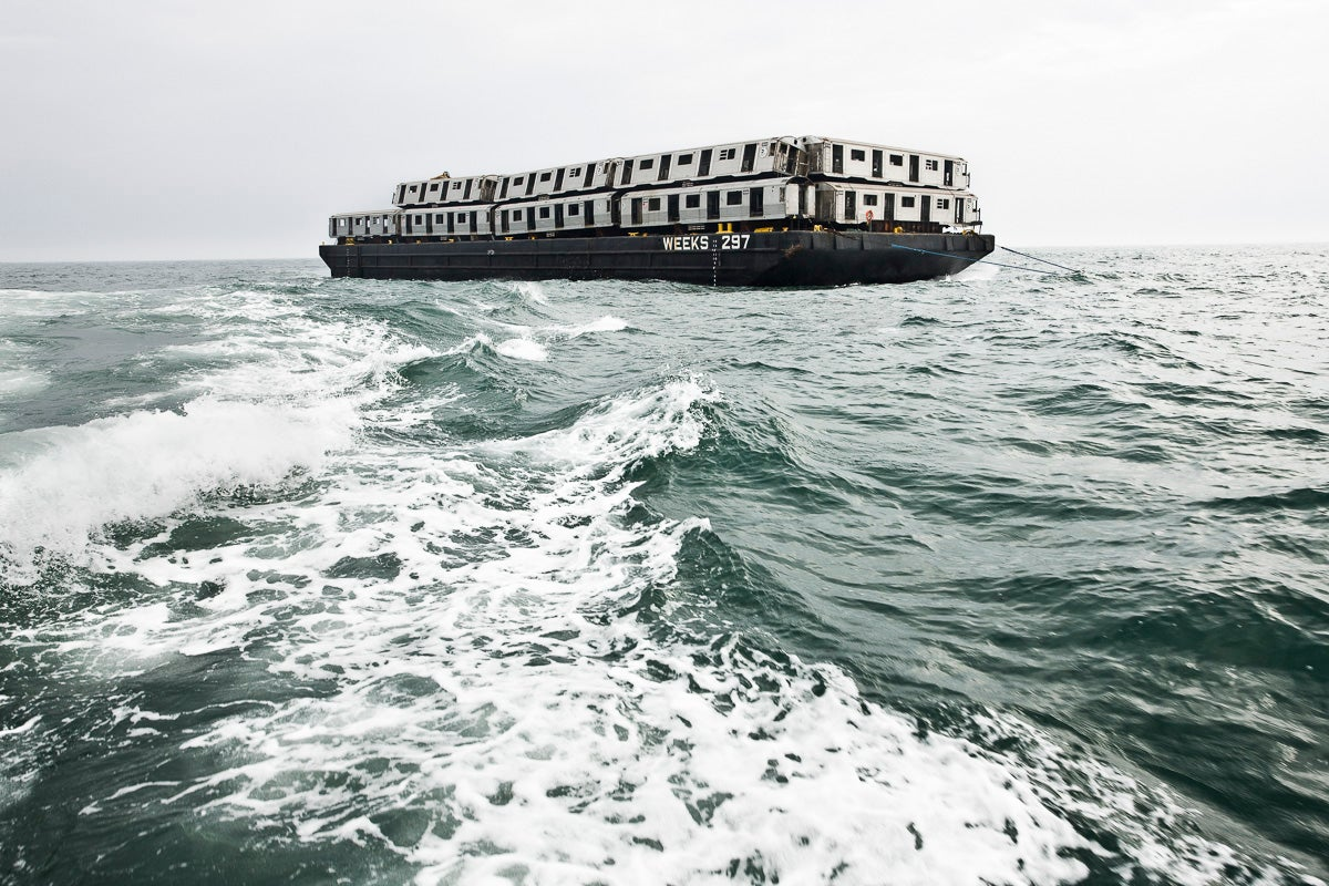 The Spectacular Sight Of Train Carriages Being Dumped Into The Ocean
