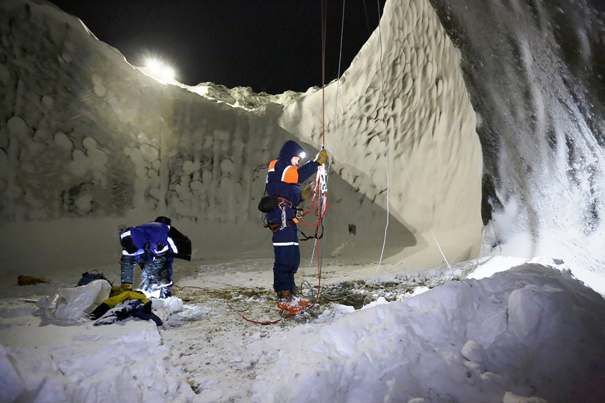 Scientists reveal amazing pictures inside mysterious Siberian hole
