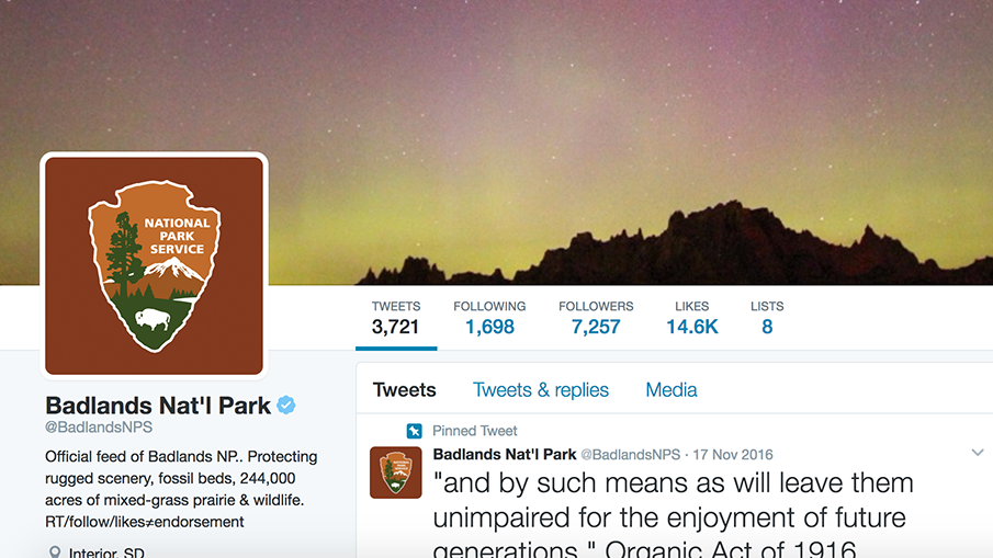 The Badlands National Parks Service Can't Stop Serving Trump Shade On Twitter