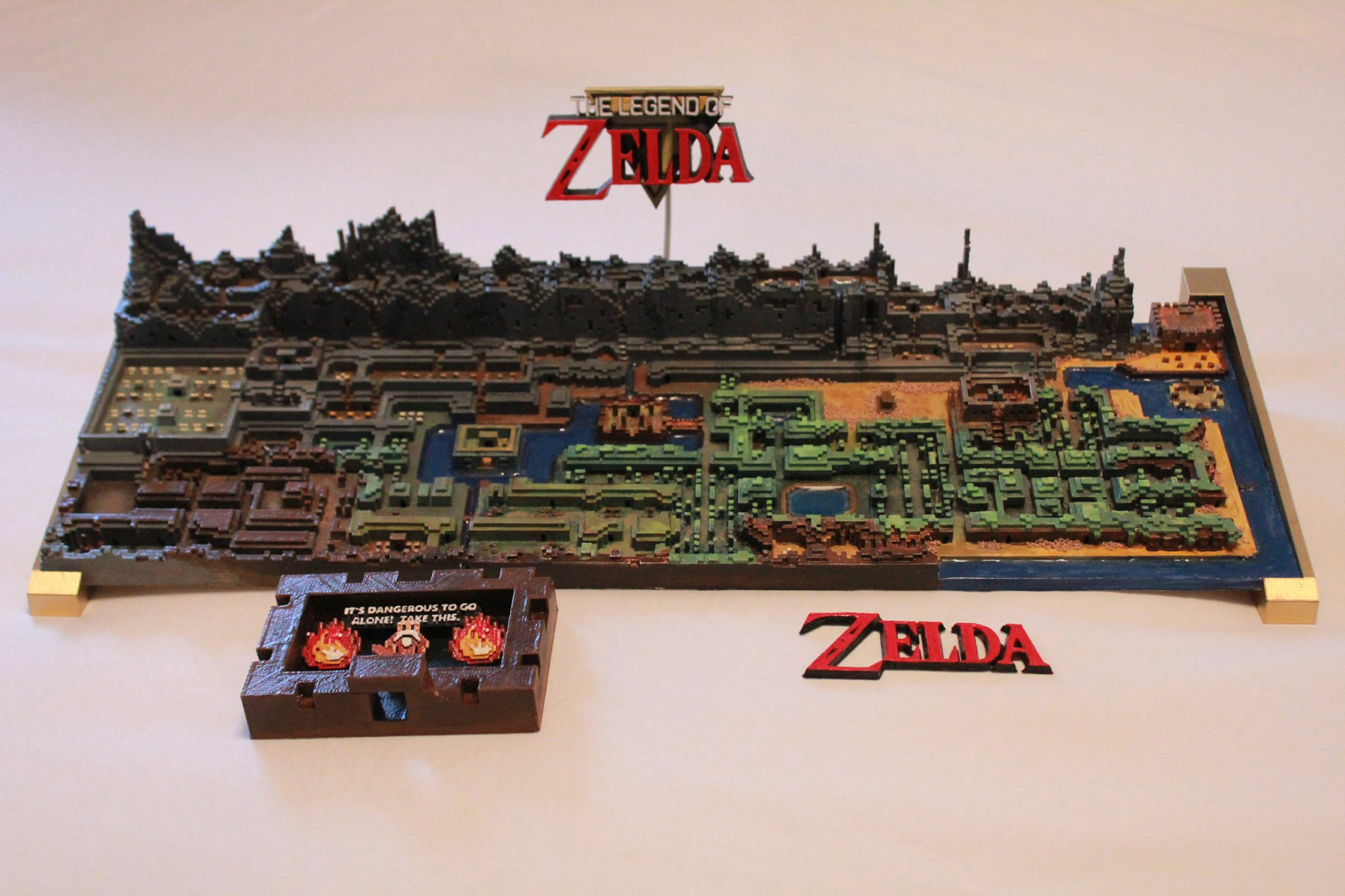 This is a picture of Punchy Legend of Zelda Nes Map Labeled