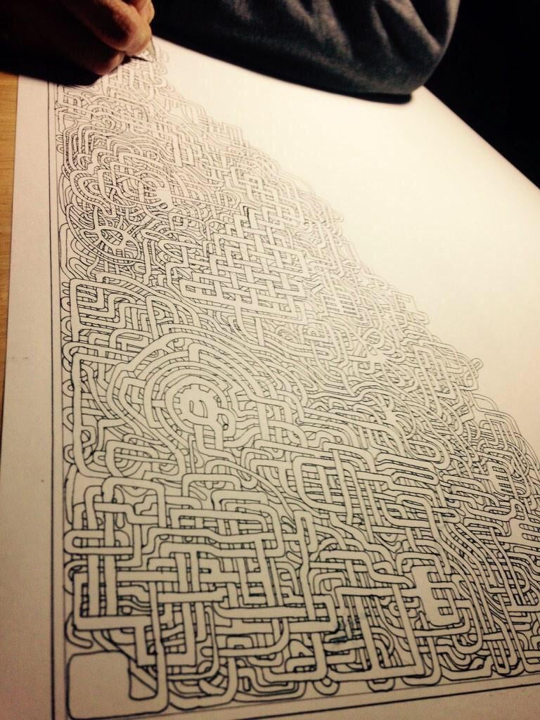 After Thirty Years, Father Draws Another Beautifully Hard Maze