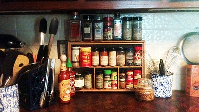 Turn a Drawer on Its Side for a Cheap, Space-Saving Spice Rack