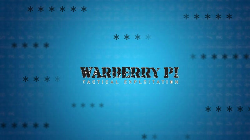 Warberry Pi Is A Dead-Simple Pen Testing Toolkit For The Raspberry Pi