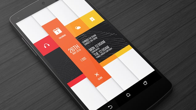 The Sliding Vertical Home Screen