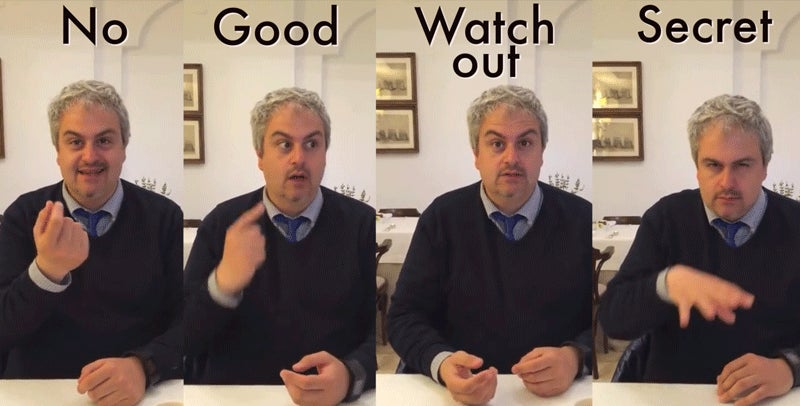 Hilarious Tour Guide Teaches You to Speak Italian With Your Hands