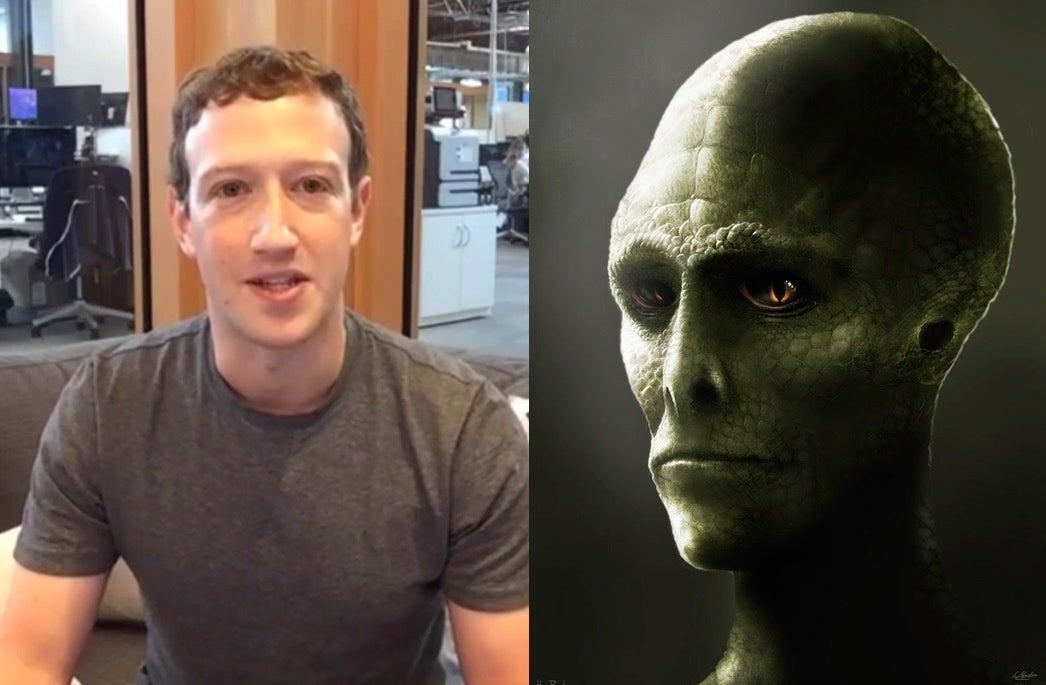 Mark Zuckerberg Denies Being A Secret Lizard Person