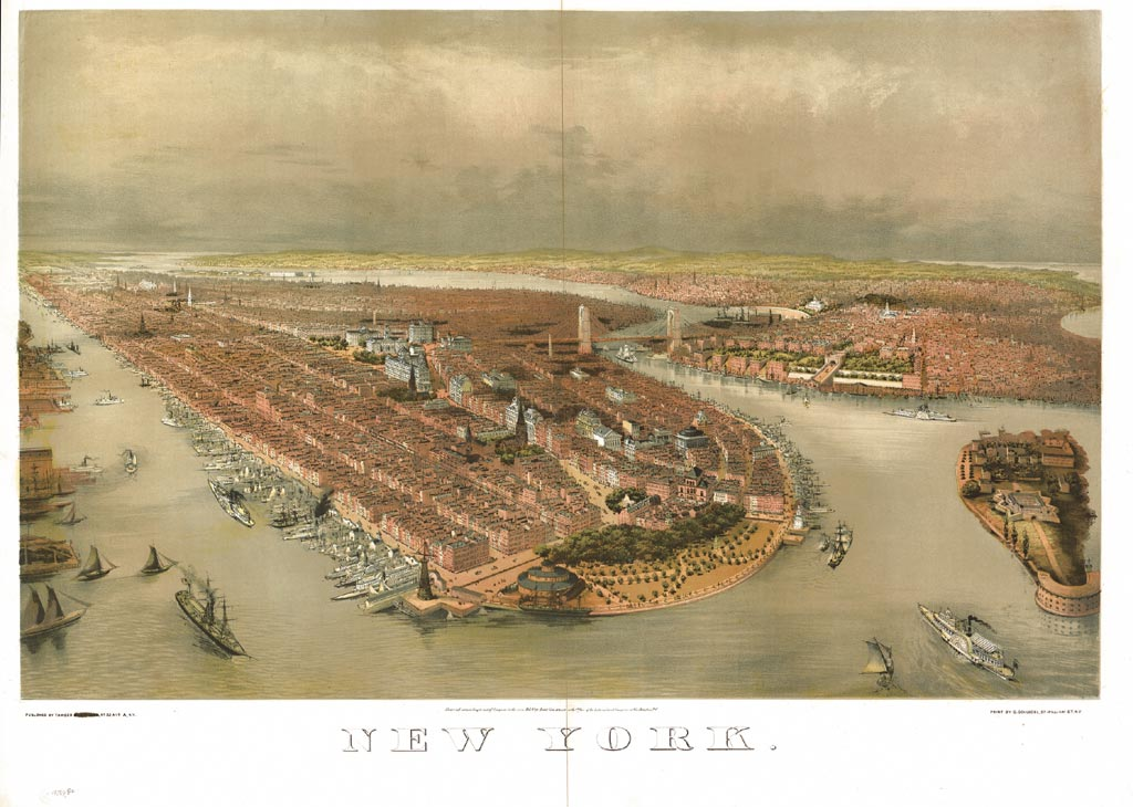 11 Bird's-Eye Views That Show How NYC Has Grown Over 350 Years