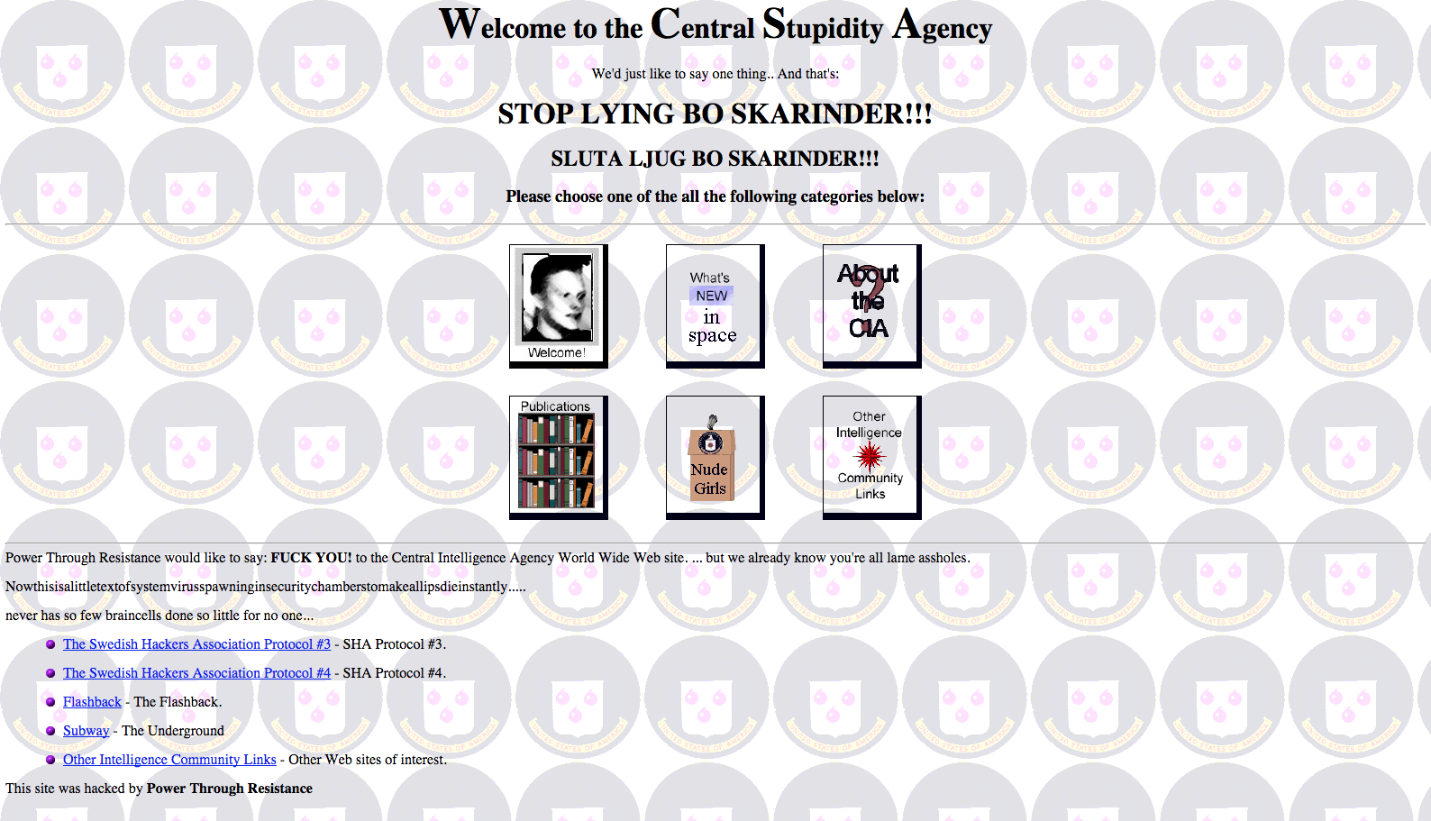 That Time Hackers Changed the CIA Website to 'Central Stupidity Agency'