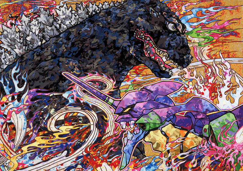 Takashi Murakami's New Godzilla Vs Evangelion Promo Art Is A Wonderful Fever Dream