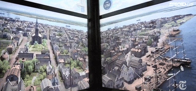 Stunning elevator ride up One World Trade Center shows 515 years of NYC