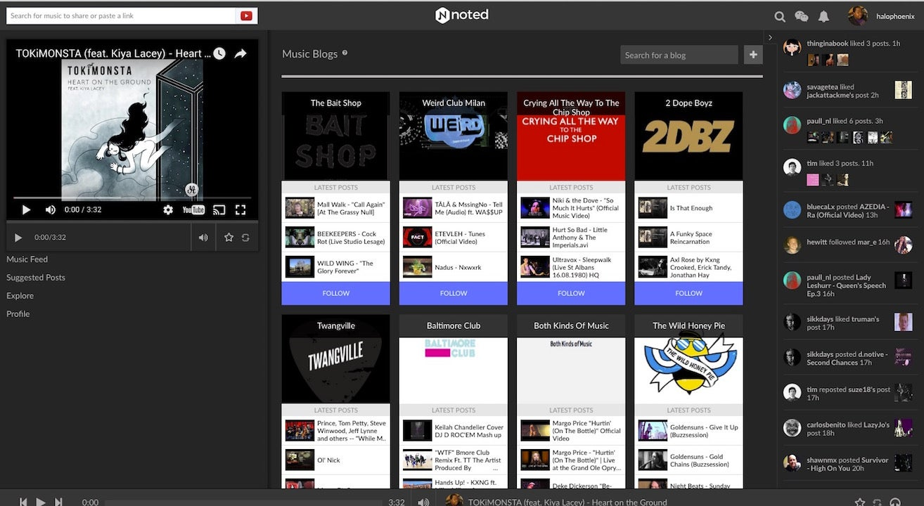 Noted.fm Lets You Follow Over 100 Music Blogs to Discover and Share Great New Tunes