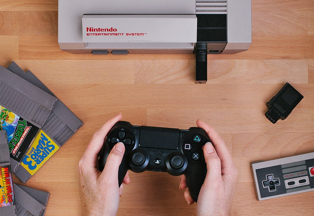 Wireless Adaptor Lets You Use a PS4 Controller on Your Classic 8-Bit NES Console