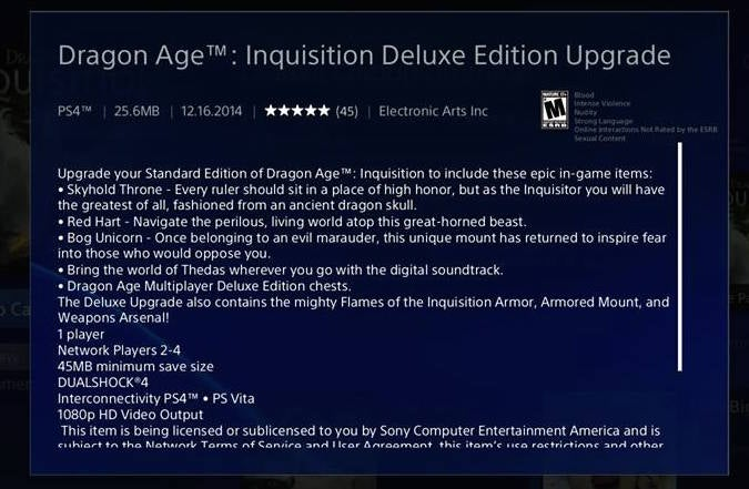 Anyone Want To Vouch For This $US10 Dragon Age: Inquisition Upgrade?