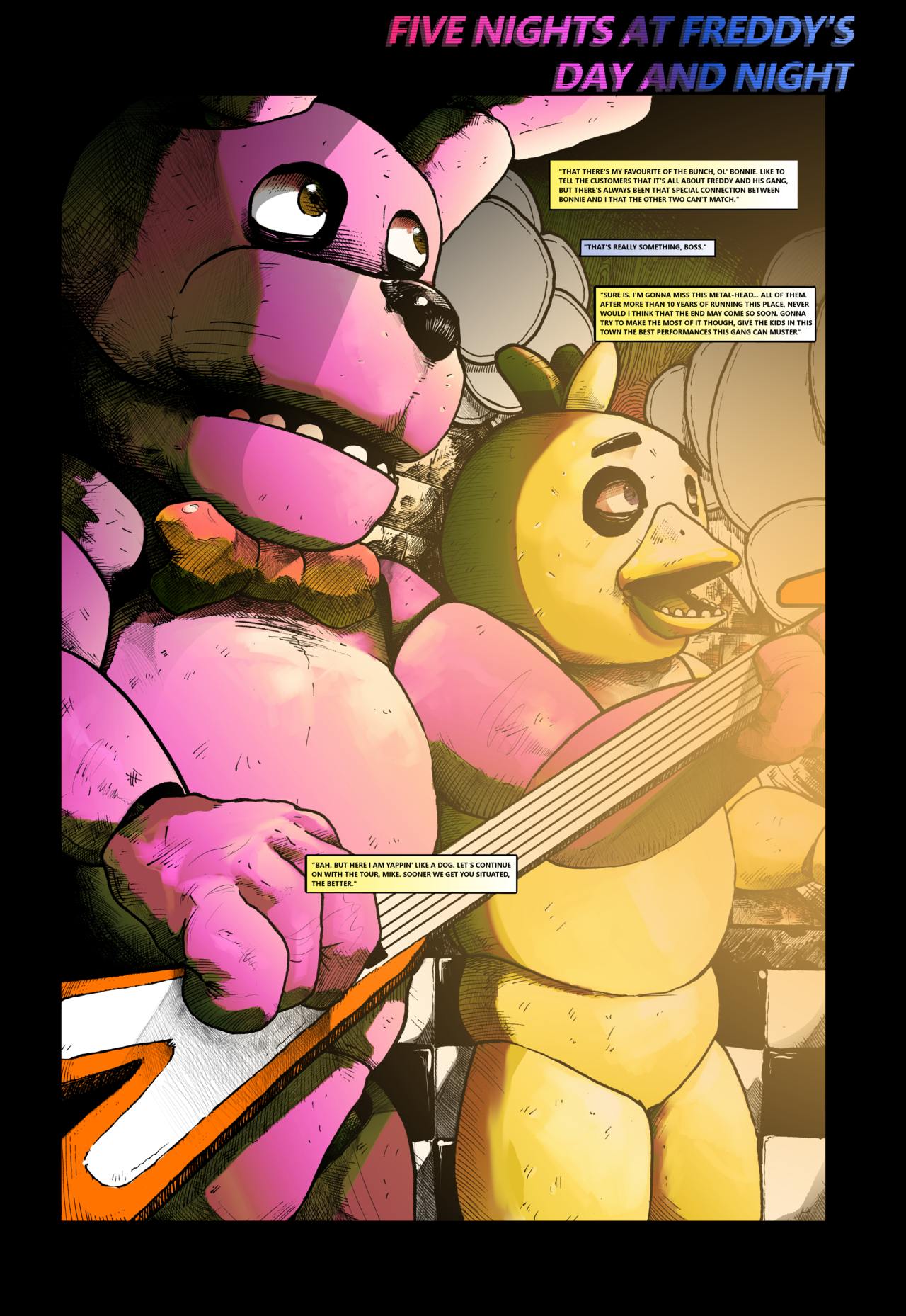 You Should Read This Fan-Made Five Nights at Freddy's Comic