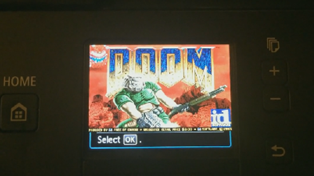 An Inkjet Printer? Of Course, It Runs Doom.