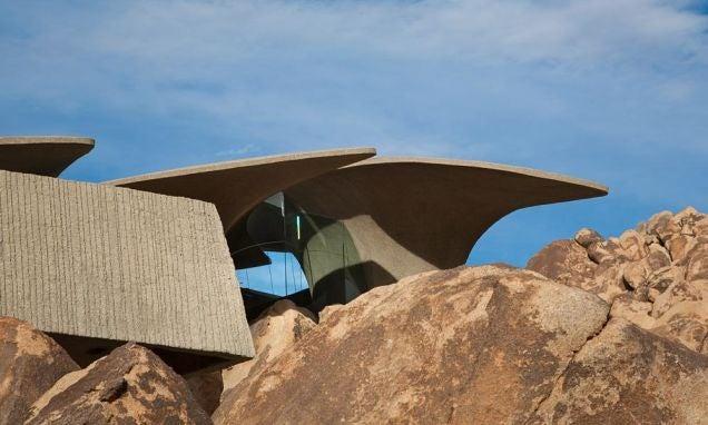 Desert house looks like Mars outpost outside and Game of Thrones inside
