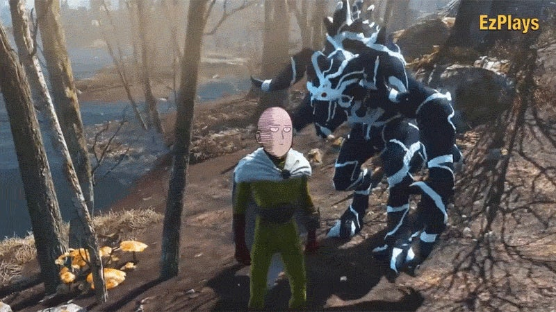One-Punch Man's Most Memorable Battle, Remade In Fallout 4