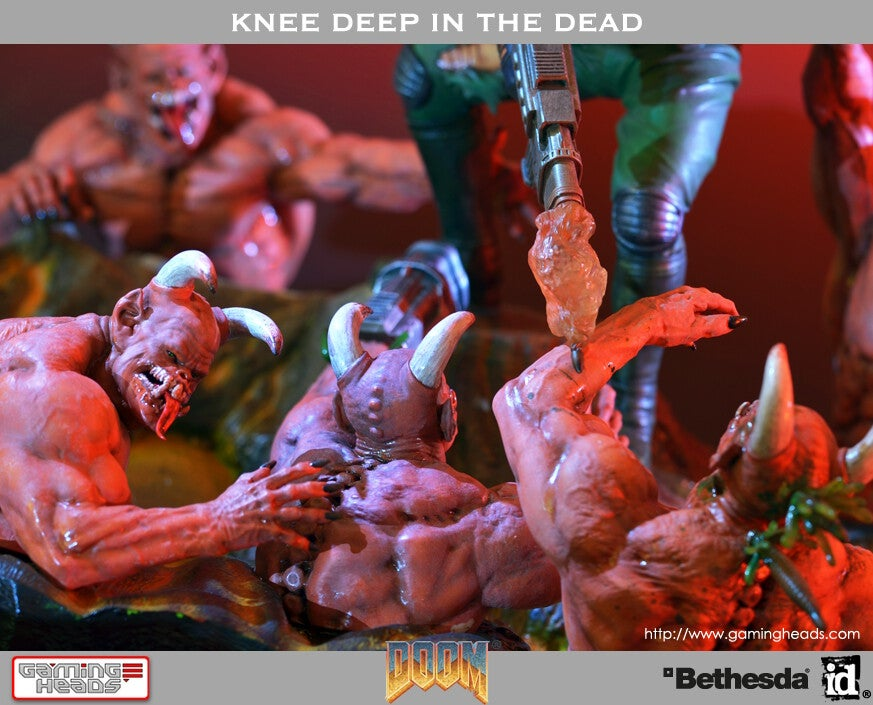 For $US400, You Too Can Enjoy Doom Guy Curbstomping Demons on Your Desk