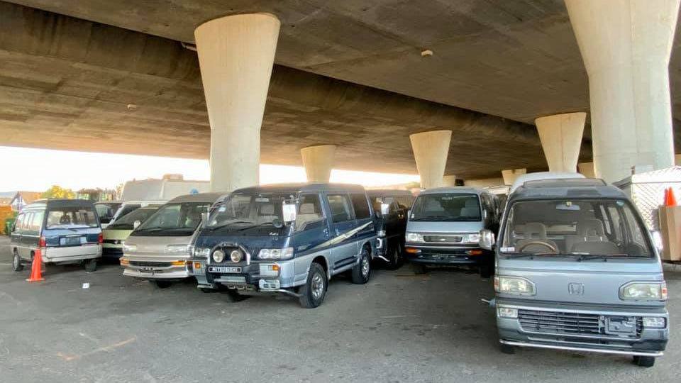 Someone Is Parking A Treasure Trove Of JDM Vans Under A California Freeway