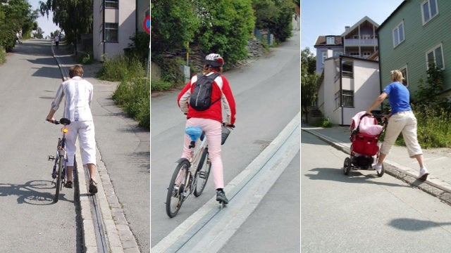 This Super Clever Lift Assists Cyclists Up Steep City Hills