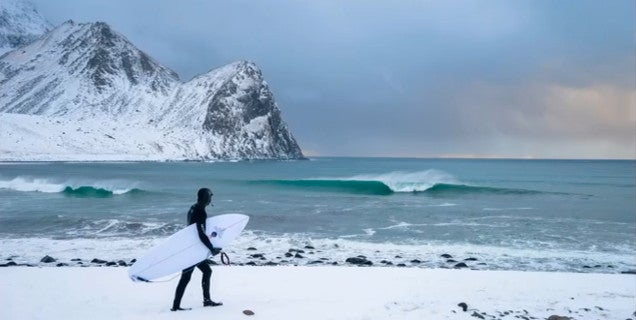 Surfing in the arctic circle is a harsh but beautiful experience