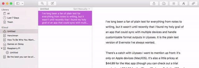 Ulysses Is the Plain Text, Evernote-Style Writing App I've Always Wanted