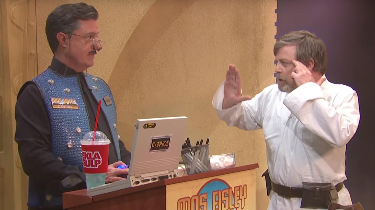 Stephen Colbert, Mark Hamill perform new 'Star Wars' Cantina scene