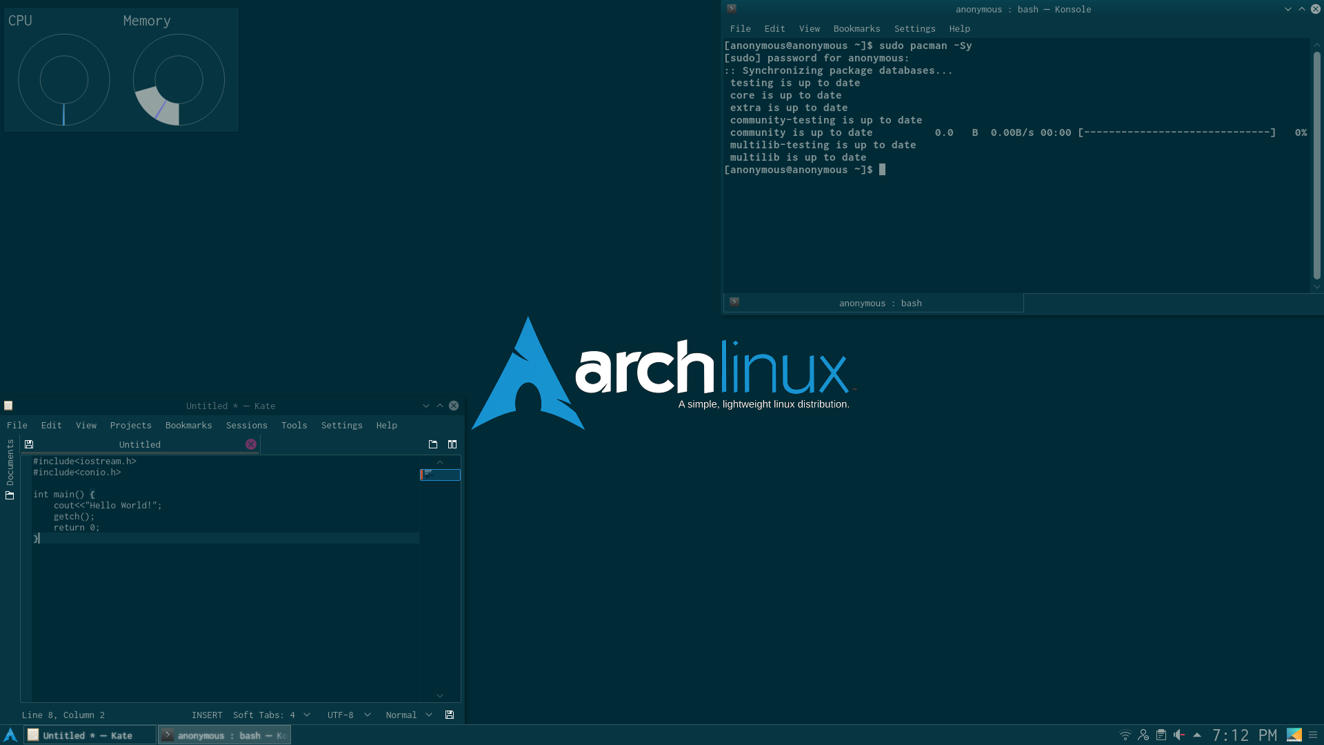 The Arch Terminal Desktop