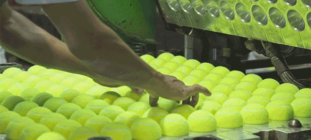 Seeing Tennis Balls Get Made Is Way More Captivating Than I Ever Thought