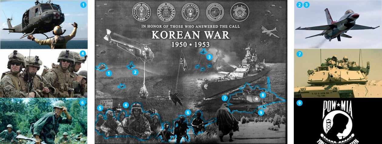 Korean War memorial is a historical photoshop horror