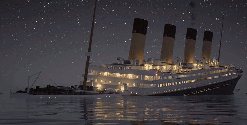 Watch the Titanic Sink in Real Time