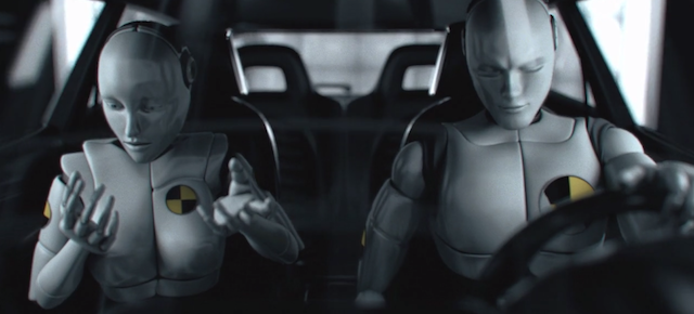 What if crash test dummies became sentient right before the car crash?