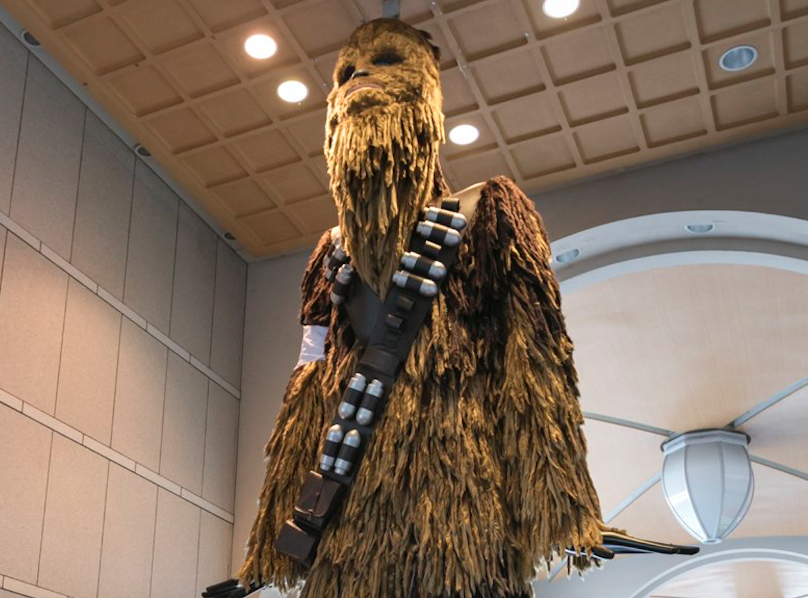 Huge Chewbacca-Themed Statue In Japan