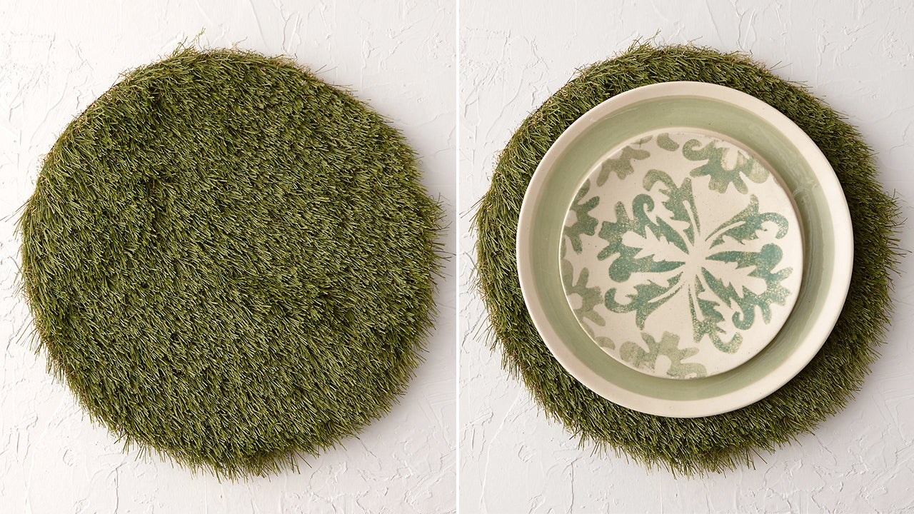 Every Meal's a Picnic With Grass Placemats