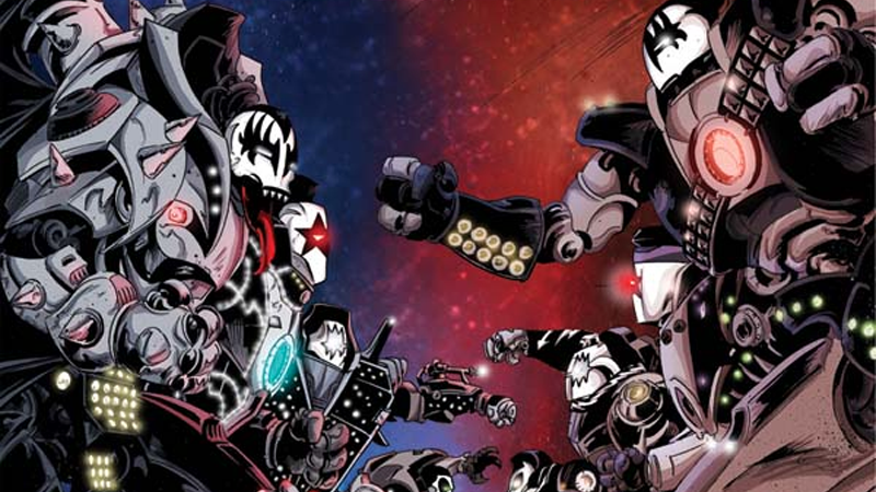 KISS Returns To Comics For A Sci-Fi Epic And Yes, Those Are Totally Giant KISS Robots