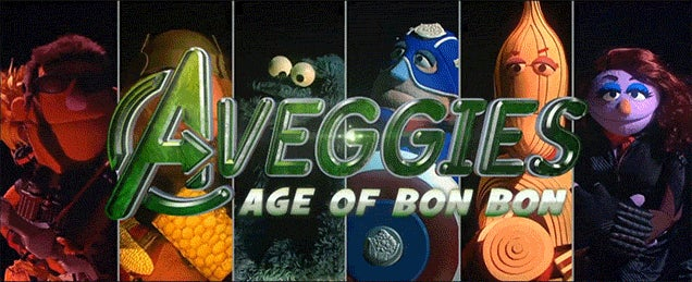 Sesame Street parodies The Avengers with silly vegetable superheroes