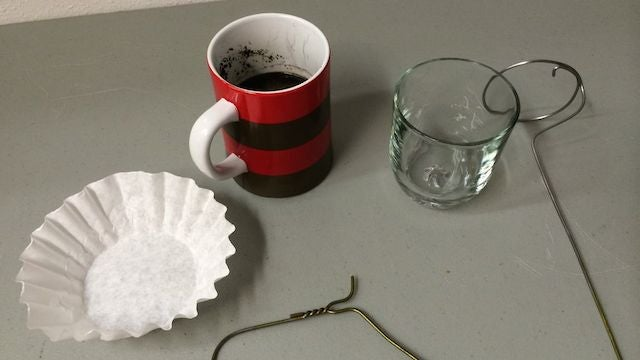 Make A DIY Coffee Plunger From Hotel Room Materials